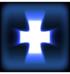 Abstract burning orange Glow Cross vector image