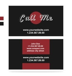 Clean dark business card vector image vector image