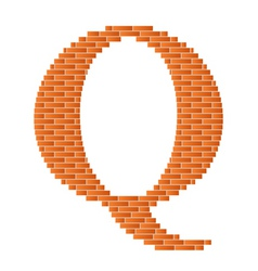 letter q vector image vector image
