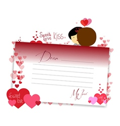 Letterhear for valentines cardinal vector