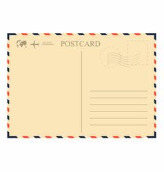 vintage postcard template retro airmail envelope vector image