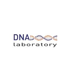 DNA laboratory logo vector image vector image