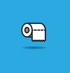 icon toilet paper rollroll of toilet paper vector image vector image