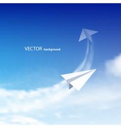 paper plane vector image vector image