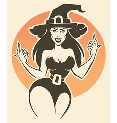 sexy witch vector image vector image