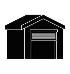 warehouse icon over vector image