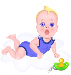 baby cartoon vector image vector image