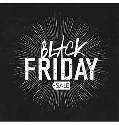 black friday vintage rays vector image