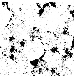 Black spattered background with blots and spots vector image