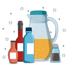 set of picnic icon vector image vector image