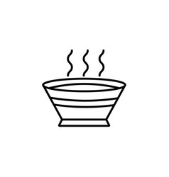 soup line icon food drink elements vector image vector image