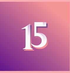 15 years anniversary rainbow number template vector