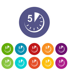 5 minutes icon simple style vector image