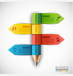 Abstract infographic pencil template vector image