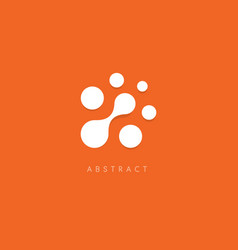 Abstract logo white dots on orange vector