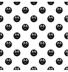 angry smile pattern seamless vector image