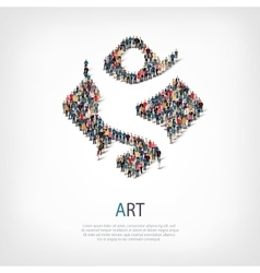 art people sign 3d vector image
