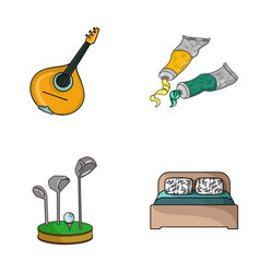 art sport and other web icon in cartoon style vector image