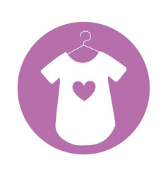 Baby outfit with heart vector