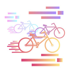 bicycle race cycling race vector image