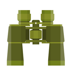 binoculars travel or military icon vector image