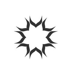 black star decorative logo template design vector image