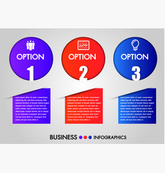 business infographics circle 3 steps vector image