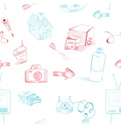 Cartoon style seamless background vector