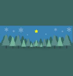 Christmas day camp mountain paper postcard vector