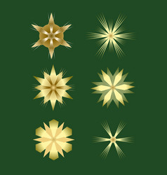Christmas stars design elements nice gold stars vector