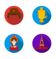 Clothes woman kremlin building russia country vector