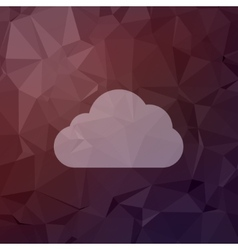 Cloud in flat style icon vector image