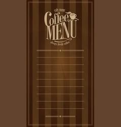 coffee menu design retro card vector image