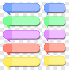 colored speech bubbles vector image