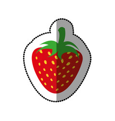 colorful strawberry fruit icon stock vector image