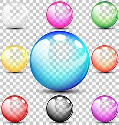 Colorful translucent bubbles vector