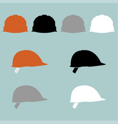 construction helmet different colour icon vector image