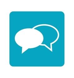 conversation bubble icon vector image