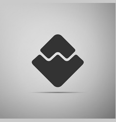 cryptocurrency coin waves icon isolated on grey vector image