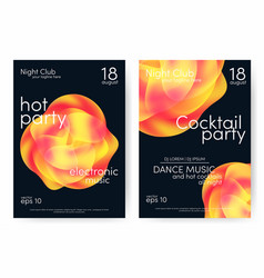 Dance party and cocktail party poster music vector
