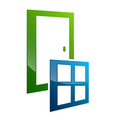 door window frame concept design symbol graphic vector image