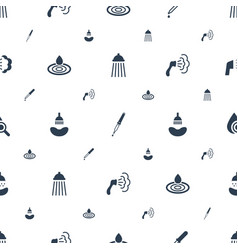 Droplet icons pattern seamless white background vector