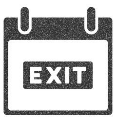 Exit Caption Calendar Day Grainy Texture Icon vector