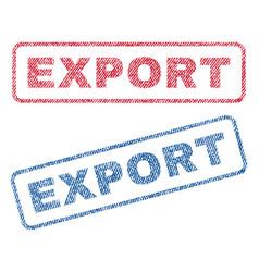 Export textile stamps vector