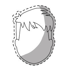 Faceless man icon image vector