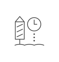 firework timer lien outline icon vector image