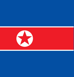 Flag of north korea in national official colors vector
