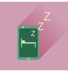 Flat icon with long shadow mobile phone sleeps vector