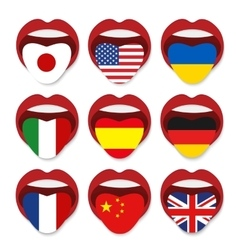 Foreign language school concept foreign language vector