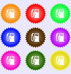 Fuel icon sign Big set of colorful diverse vector image